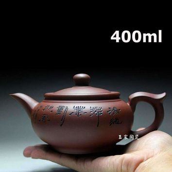 2017 Yixing Zisha Teapot Tea Pot 400ml Handmade Kung Fu Tea Set Teapots Ceramic Chinese Ceramic Clay Kettle Gift Safe Packaging