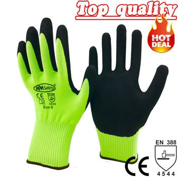 NMSafety Hot Selling Safety Working Gloves Anti Cut Gloves CE Standard Cut Level 5 Gloves