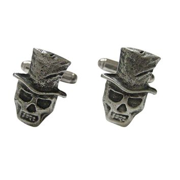 Skull with Hat Pendant Cufflinks