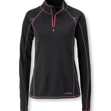 Women's Polartec Power Dry Stretch Base Layer, Lightweight Quarter-Zip | Now on sale at L.L.Bean