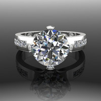 Forever Brilliant Moissanite and Diamond Engagement Ring 3.28 CTW