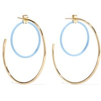 Elizabeth and James - Renee gold-plated acetate hoop earrings
