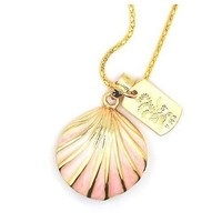 8GB Pink Sea-Shell Style USB Flash Drive with necklace
