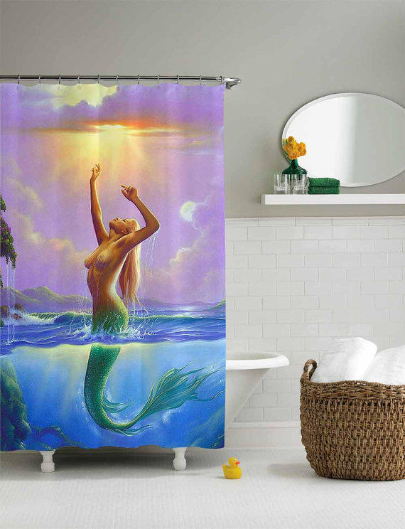 Mermaid Sexy Shower Curtainshower From Sarbotexas On Etsy