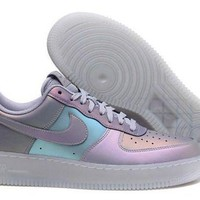 ONETOW Nike Air Force 1 High-Top 07 LV8 3M Iridescent Anthracite Men's Casual Shoes Sneakers