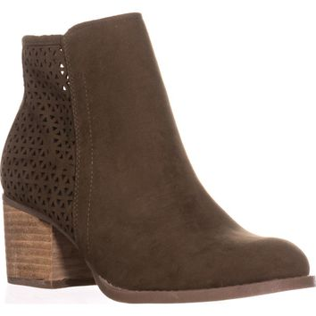 madden girl Fayth Ankle Boots, Olive, 7.5 US
