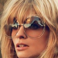 Vintage Oversized Wire Frame Sunglasses