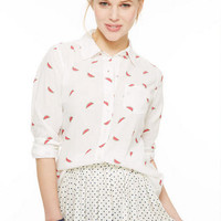 Watermelon Button Down Shirt