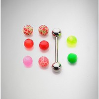 14 Gauge Barbells with Extra Multi Captive Beads - Spencer's