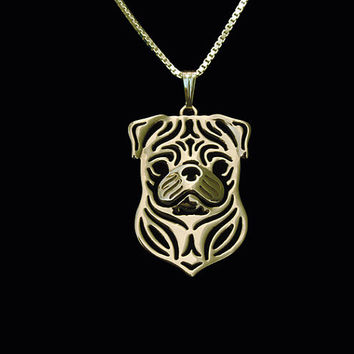 Pug Silver Plate Necklace - Proceeds Go to Animal Rescue