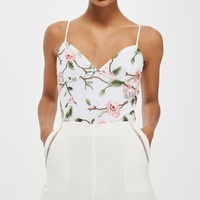 Floral Lace Embroidered Bodysuit | Topshop