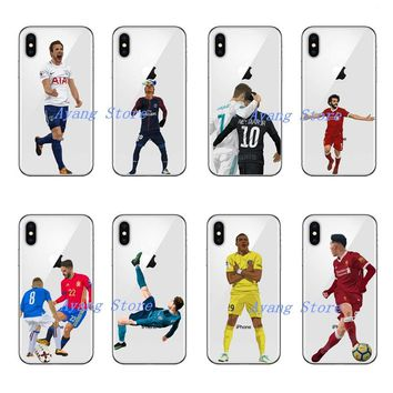 Football star cristiano ronaldo Lionel messi Roberto Firmino Neymar Phone case for iPhoneX 5 5S SE 6 6plus 7 Hard PC Cover