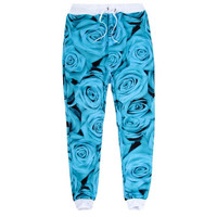 Blue Roses Joggers