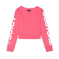 GRAPHIC CROP SWEAT TOP
