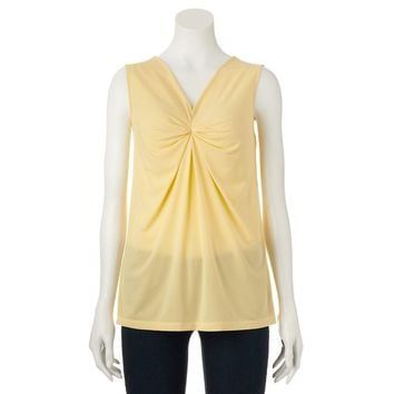 Dana Buchman Shirred Top