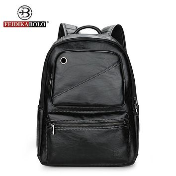 Men Backpack Men Bag pack Male Leather Backpack Laptop Man Travel Backpacks