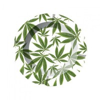 Metal Ashtray - Cannabis Leaves | Grasscity