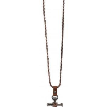 Christian Jewelry mens womens metal NAIL CROSS ON COPPER NECKLACE 22.5""