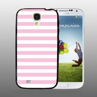 Light Pink Stripes - design for Samsung Galaxy S4 Black case