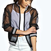 Alma Sheer Bomber Jacket