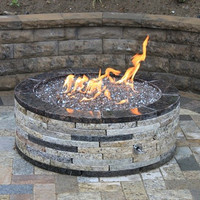 "Do-It-Yourself Ready-to-Finish 54"" Circular Fire Pit Kit"