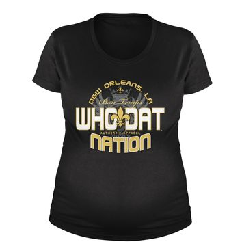 Who Dat Nation New Orleans (Color) Maternity Pregnancy Scoop Neck T-Shirt
