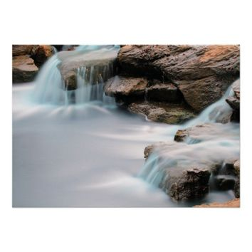 Add An Inspirational Quote Silky Garden Waterfall Poster
