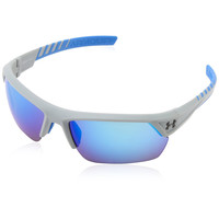Under Armour UA Igniter 2.0 Satin Gray Frame Blue Mirror Lens Sport Sunglasses