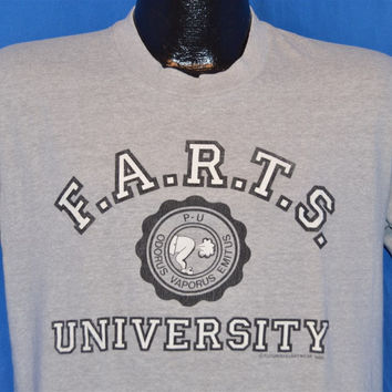 80s F.A.R.T.S. University Farts Heathered Gray t-shirt Medium