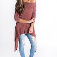 Maribelle Tunic Top (Burgundy)