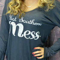 Hot Southern Mess Charcoal Top