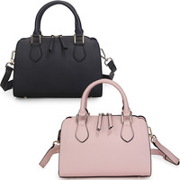 Leather handbag large amount of GXG contracted fashion hand shoulder slope across packages-Color Pink