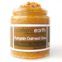Face Scrub : Pumpkin Oatmeal Glow Limited Edition with Pumpkin and Pumpkin Seed Oil for Autumn