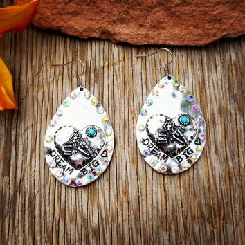 Dream Big Barrel Racer Earrings