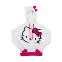Womens Hello Kitty Hoodie, White, at Journeys Shoes