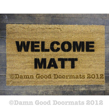 Welcome Matt welcome mat  doormat