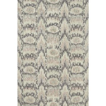 Alexander Home Transitional Ikat Mosaic Blush Pink Wool Hand-hooked Rug (5' x 7'6) | Overstock.com Shopping - The Best Deals on 5x8 - 6x9 Rugs