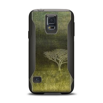 The Deep Green Tree Pastel Painting Samsung Galaxy S5 Otterbox Commuter Case Skin Set