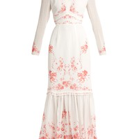 Rose-print silk-georgette dress | Vilshenko | MATCHESFASHION.COM US