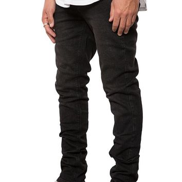 Medium Black Denim Slim Tapered Pant