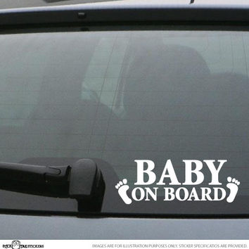 Generic BABY ON BOARD Vinyl Car Decal Bumper Sticker