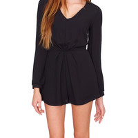 Look At Me Romper Black