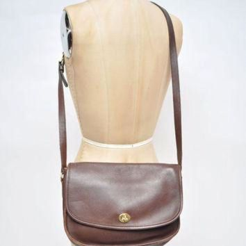 ONETOW vintage leather coach bag purse saddle shoulder bag heritage legacy handbag cross body