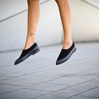 40% Sale, Annabella, Black Shoes, Loafers, Black Suede Shoes, Winter Women Shoes, Black Flats, Pointy Leather Shoes, Easter Gift For Her