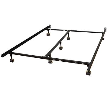 Universal Metal Bed Frame Adjusts to fit Twin Full Queen King CAL King Twin XL