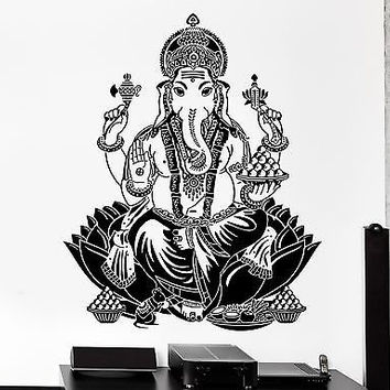 Wall Decal Buddha Lord Ganesha Indian God Buddhism Vinyl Sticker (z2872)