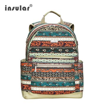 5 Color Bohemian Diaper Backpack