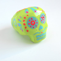 Dreadlock Bead 7mm Dread Beads Sugarskull Sugar Skulls One of A Kind Hand Cast Hand Painted Resin Bead for Dreads