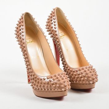 DCCK Nude Leather Christian Louboutin  Alti Pump Spikes 160  Pumps