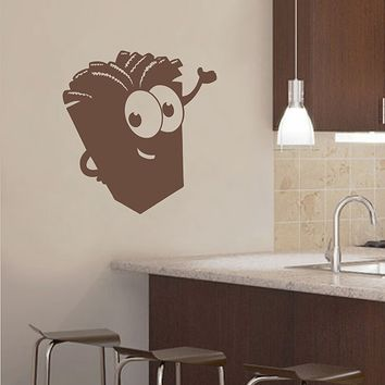 ik2936 Wall Decal Sticker funny french fries fast food restaurant snack